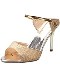 wawer Mujeres Zapatos de tacón para mujer sandalias Ankle High Heels Block Party abierto