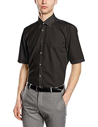 Venti Herren Businesshemd 001620, Schwarz (Schwarz 80), Kragenweite: 35 (Herstellergröße: 35)
