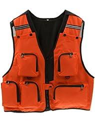Multi-poches Gilet de Pêche Photographie Veste de Chasse