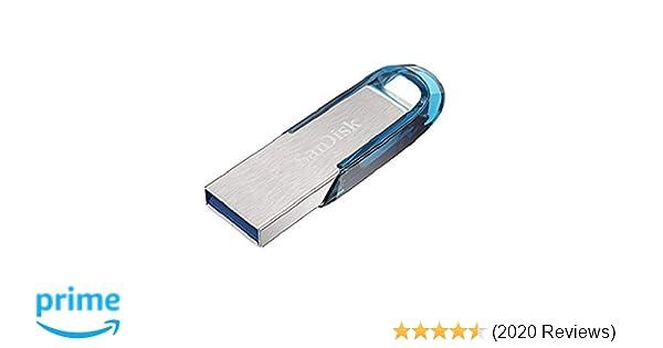 SanDisk Ultra Flair 64 GB USB 3 0 Flash Drive, Upto 150MB/s read - Blue
