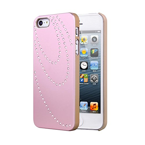 top-quality-smart-iphone-se-sandblasting-pink-brushed-aluminum-diamond-case-bling-cover-with-gold-si