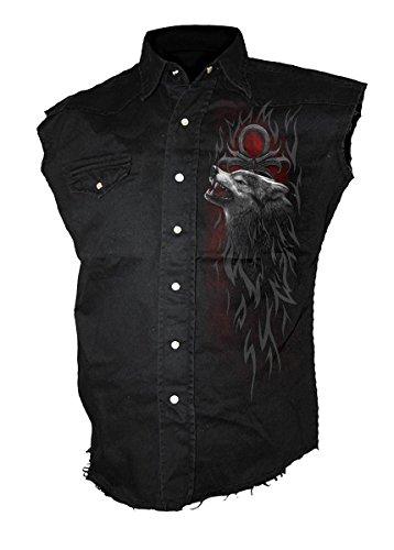 Spiral Legend of the Wolves Worker Shirt Kutte Wolf Schwarz