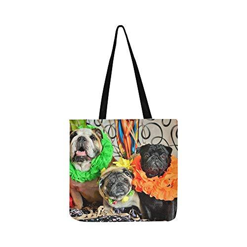 Hunde Karneval SHAOKAO SHAOKAO Canvas Tote Handtasche Schultertasche Crossbody Taschen Geldbörsen für Männer und Frauen Einkaufstasche