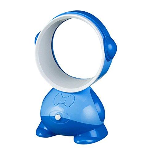 ALIKEEY USB Ventilatoren Handventilator Tragbarer Mini Lüfter Elektrischer  USB Ladekabel Mit Auflad (Navy)