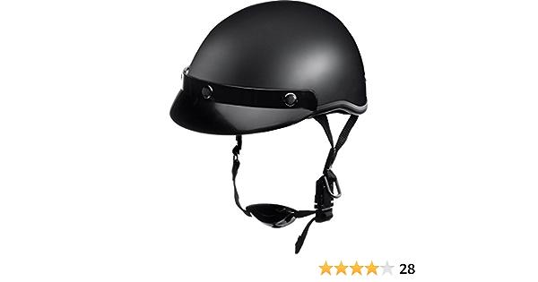 Delroy Jethelm Motorradhelm Helm Motorrad Mopedhelm Für Damen Und Herren Braincap Helmschale Aus Polycarbonat Waschbare Polster Inklusive Abnehmbarem Schirm Schnellverschluss S Xxl Auto