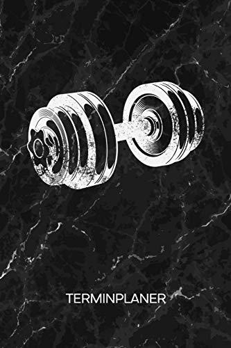 TERMINPLANER: Hobbysportler Kalender Fitness Terminkalender - Fitness Motivation Wochenplaner Hantel Training Wochenplanung Bodybuilding Taschenkalender Kraftsport To-Do Liste Termine