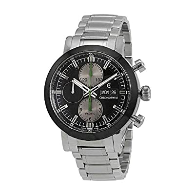 Chronoswiss Pacific Chronograph Black Dial Mens Watch CH-7585.1B-BK