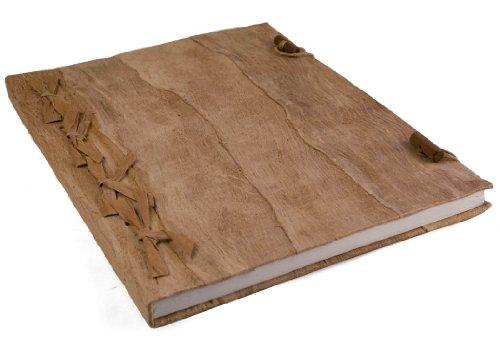 Life Arts Bark Rinde Notizbuch Handgefertigt Natürlich, Extra Large Blanko Seiten