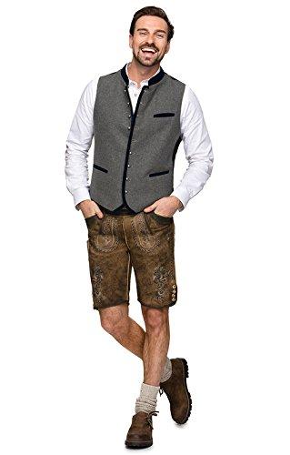 Michaelax-Fashion-Trade Stockerpoint - Herren Trachten Weste in verschiedenen Farben, Alonso, Größe:48, Farbe:Grau-Nachtblau - 2