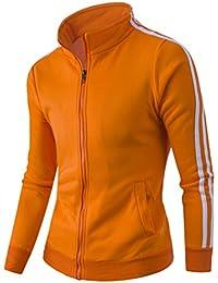 Juleya Herren Herbst Sweatshirt Classic Full Zip Stehkragen Jacken Mantel  Wintersport Jogging Outwear 061bec2b3d