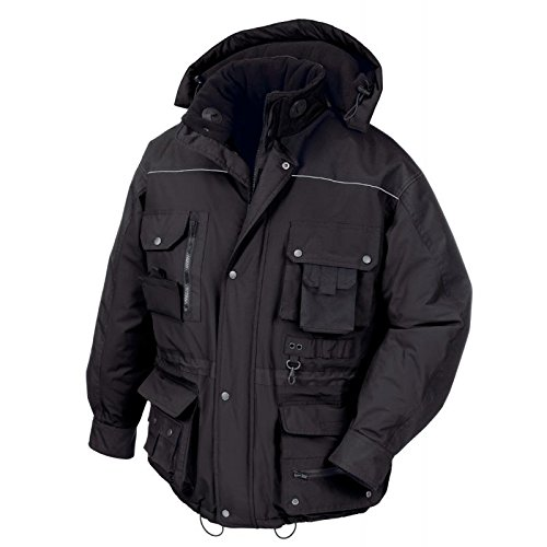texxor Arbeits Veste d'hiver Montréal coupe-vent et imperméable, gris, 4190 noir