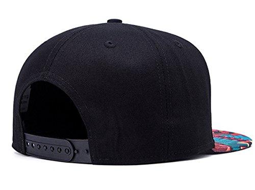 Imagen de aivtalk  hip hop negro sombrero  de béisbol moda con estampado unisex snapback hat cap para hombres mujeres alternativa