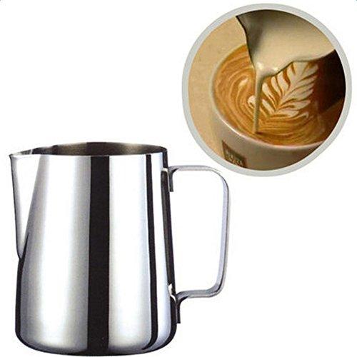 Demarkt Milchkännchen Milk Pitcher Edelstahl Milch Schalen für Milchaufschäumer Craft Kaffee Latte Milch Aufschäumen Krug Latte Art (200ml)