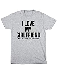 Edward Sinclair I Love My Girlfriend When She Lets Me Play Video Games Unisex T Shirt - Valentines Gift