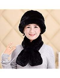 425df64142591 XIAOGEGE Sombrero de Dama otoño Invierno Bufanda Sombrero Mujer Invierno  Viejo Hombre Gorra
