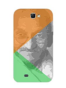 Mahatma Gandhi - Father Of The Nation - Independence Day - Hard Back Case Cover for Samsung Note 2 - Superior Matte Finish - HD Printed Cases and Covers
