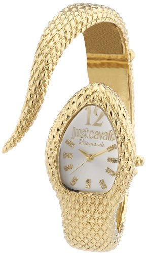 Just Cavalli R7253153503 - Reloj analógico para Mujer de latón Resistente al Agua Plata