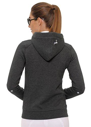 SPOOKS Damen Sweatjacke, Kapuzen-Jacke Mädchen Kinder Frauen - Awa Jacket Dark Grey XS - 3