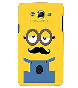 PrintDhaba Mustache D-2007 Back Case Cover for SAMSUNG GALAXY J5 (Multi-Coloured)