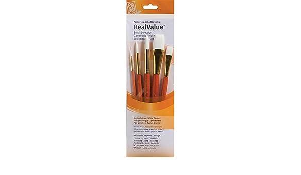 Lot de 6 Princeton 9140 aquarelle acrylique et tempera Blanc Taklon Pinceau