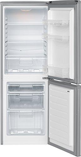 Bomann KG 320 Kühl-Gefrier-Kombination / A++ / 163 kWh/Jahr / 112 L Kühlteil / 48 L Gefrierteil / silber