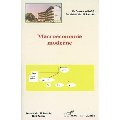 Macroéconomie moderne.
