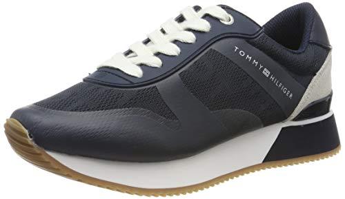 Tommy Hilfiger Tommy Jacquard City Sneaker, Scarpe da Ginnastica Basse Donna, Blu (Midnight 403), 39 EU