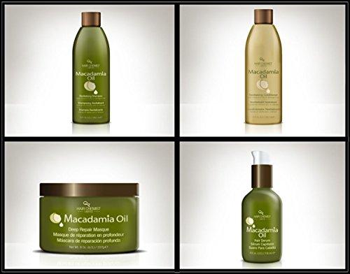 Hair Chemist Macadamia Oil Deluxe Hair Care Collection - 4 Piece Set by Hair Chemist