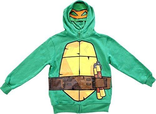 Kostüm Turtle Ninja Kleinkind (Nickelodeon Tmnt Teenage Mutant Ninja Turtles Jungen grün Kostüm Hoodie Sweatshirt (Kleinkind 3T))