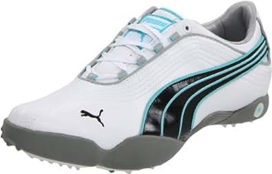 Puma Sunny - Chaussures de Golf femme, Blanc - White/Black/Blue, 41