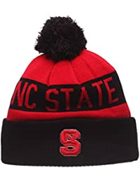 North Carolina State Wolfpack The Brisk Cuff Beanie Hat with POM POM - NCAA NCSU Cuffed Winter Knit Toque Cap by Zephyr