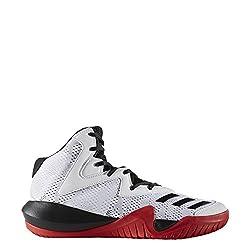 Adidas Mens Crazy Team 2017 Ftwwht/Cblack/Scarle Basketball Shoes - 9 UK/India (43 EU)