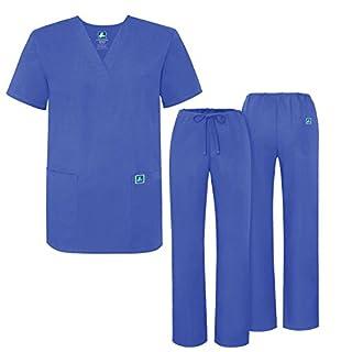 ADAR UNIFORMS Scrub Set for Men – Medical Uniform with Top and Pants, Color: CBL | Size: 2X