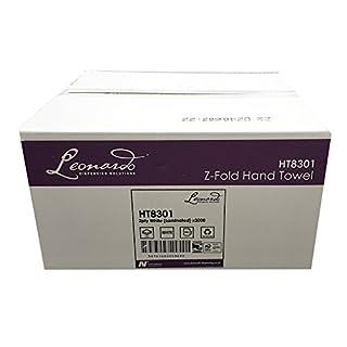 Leonardo 2 ply White Laminated Z Fold Paper Hand Towels 3000 Per Case