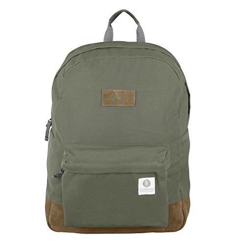 Ridgebake zaino caso MEMMO ARMY & BROWN SUEDE Canvas Uomo Donna Bambini Laptop Backpack