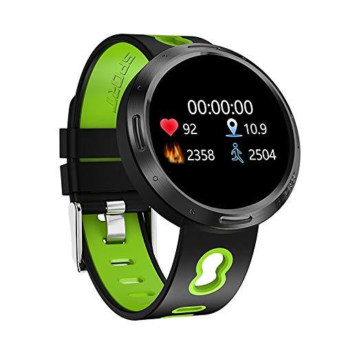 Unbekannt Fitness-Tracker Mit Blutdruckmessgerät, Herzfrequenz-Aktivitäts-Tracker Fitness-Uhr Wasserdichter IP68-Schrittzähler Schrittzähler Schlafmonitor Für Frauen Männer,Grün