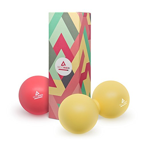 Lacrosse-Ball (7cm Ø) im Set. Massageball aus 100{a1727395ef954d3066673310f4018c6f4a72b5dbaceef2f26f464e377f849075} lebensmittelechtem Silikon. Zur Behandlung von Verspannungen und Verhärtungen. Faszientrainer/Faszienball (Faszienrolle) zur gezielten Selbstmassage