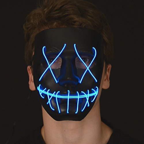 aske - Leuchtende - Neon Maske für Halloween ()