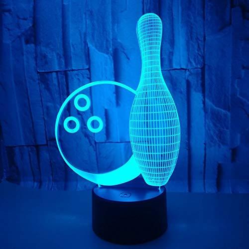 Bowling 3D Nachtlicht Bunte Note 3D Führte Kreative Kleine Leuchten 3D Luminaria Led Usb Nachtlicht