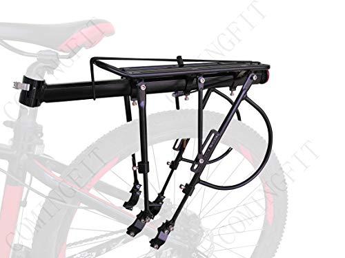 COMINGFIT® 140kg Kapazität Einstellbare Fahrrad Gepäck Cargo Rack-Super Starke Upgrade Fahrrad Gepäckträger 6-Strong-Leg Fahrrad Cargo Carrier -