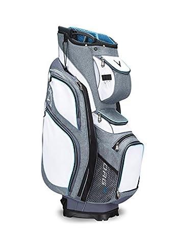 Callaway 2017 ORG 14 Cart Bag Mens Golf Trolley Bag 14-Way Divider White/Titanium/Blue