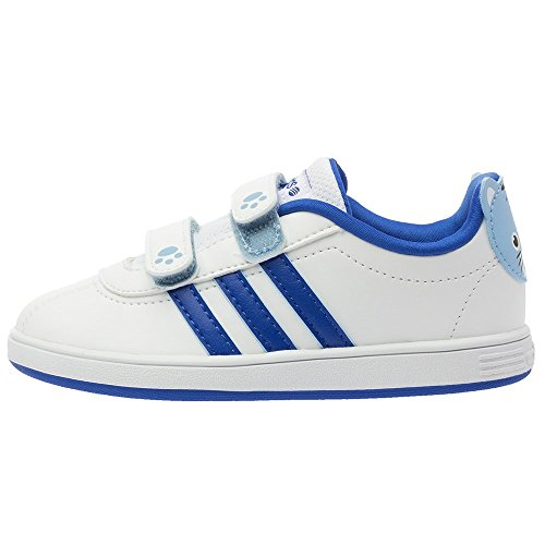 85b2873281c33 adidas Neo Court Animal INF Chaussures Mode Sneakers Bebe Blanc Bleu AdiFit