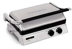 Thomson THGR06306 Grille Electrique pour Panini/Gril/Gaufre Inox