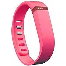 EGS - Correa y cierre de repuesto para pulsera Fitbit Flex, tamaño grande, color rosa