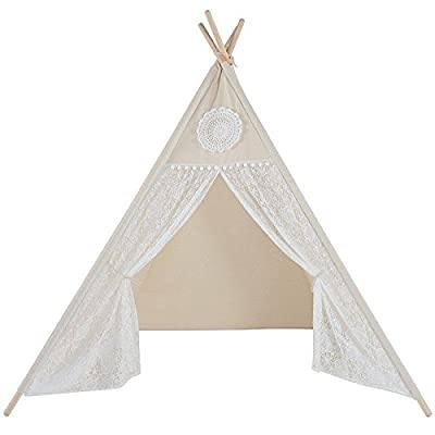 free shipping ac2fe bc5db Canicove Teepee Tent For Kids - Award Winning 100% Cotton ...