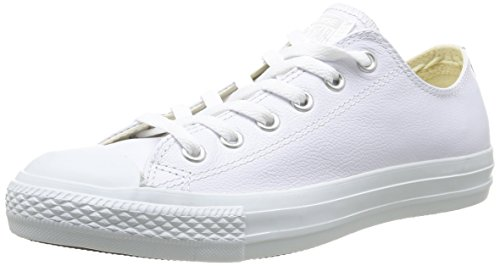 Converse Chuck Taylor All Star Adulte Mono Leather Ox 15460 Unisex - Erwachsene Sneaker Weiß