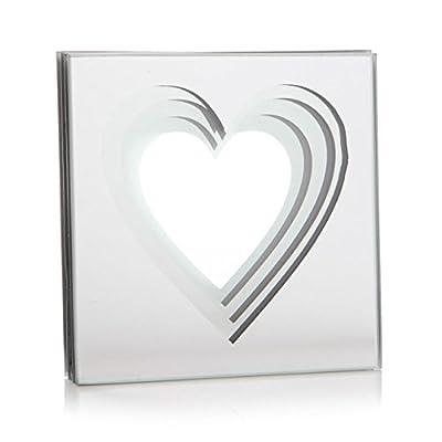4 x Ice House Glass Love Heart Coffee Table Mug Mat Drink Coaster Coasters Set