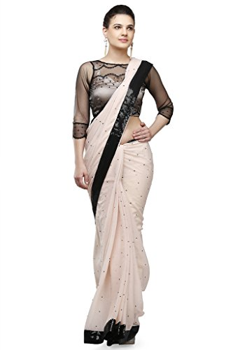 Designer Sarees for Women with Brocade Blouse