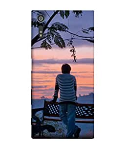 PrintVisa Designer Back Case Cover for Sony Xperia XR (Mountains Sunset Wallpaper Background Orange White)