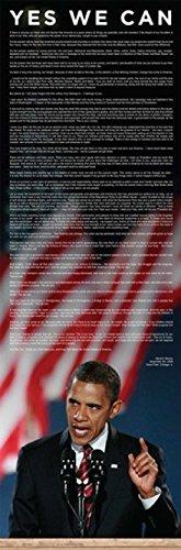 The Poster Corp Barack Obama Acceptance Speech - Door Laminiertes Plakat (29,85 x 91,44 cm)